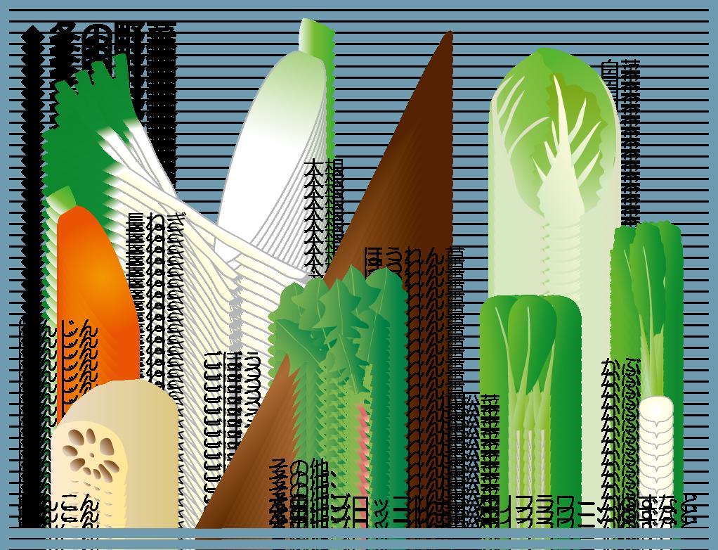 野菜の旬ー冬